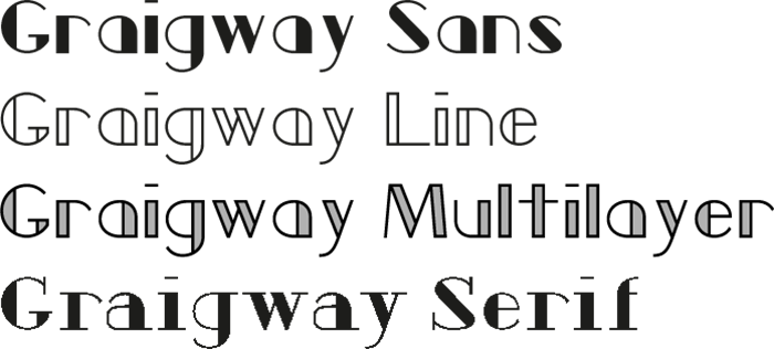 Graigway Fonts Overview